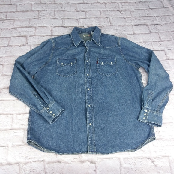 085d3459be Levi s Other - Levi s button pearl snap denim shirt ...